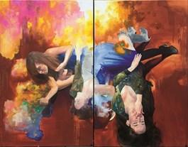 Obraz do salonu artysty Angelika Korzeniowska pod tytułem Szczęśliwa dziewczyna i radość życia
