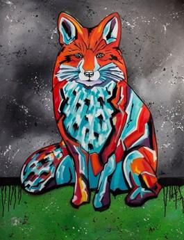 Obraz do salonu artysty Monika Mrowiec pod tytułem Farbowany lis