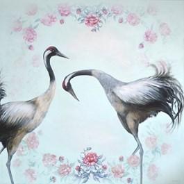 Obraz do salonu artysty Klaudia Choma pod tytułem Zrękowiny