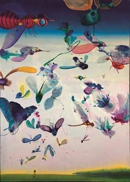 Obraz do salonu artysty Barbara Kozaczkiewicz pod tytułem Dom z much