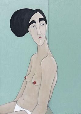 Obraz do salonu artysty Paulina Korbaczyńska pod tytułem Michalina po pracy
