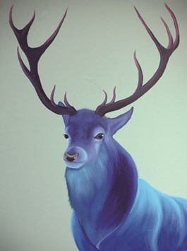 Obraz do salonu artysty Campio pod tytułem Cobalt deer