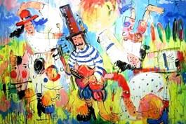Obraz do salonu artysty Dariusz Grajek pod tytułem Upadki Ikara