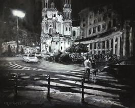 Obraz do salonu artysty Arkadiusz Mężyński pod tytułem Plac Zbawiciela