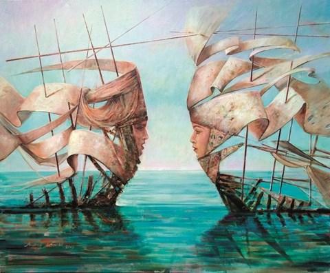 Obraz do salonu artysty Andrzej Wroński pod tytułem Bez tytułu