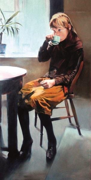 Obraz do salonu artysty Jan Dubrowin pod tytułem Zimny dzień