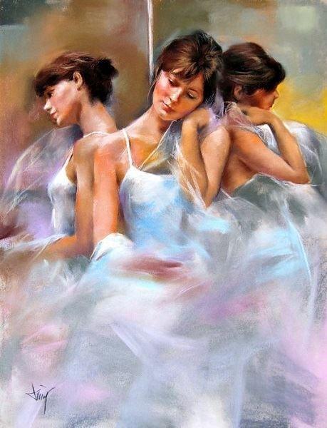 Obraz do salonu artysty Domingo Alvarez Gomez pod tytułem Portret potrójny