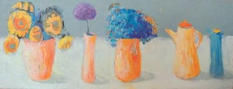 Obraz do salonu artysty Jolanta Caban pod tytułem Martwa natura ze słonecznikiem