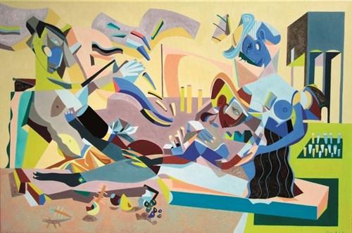 Obraz do salonu artysty Filip Gruszczyński pod tytułem Hesperos i pożeraczki chmur