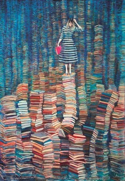 Obraz do salonu artysty Katarzyna Orońska pod tytułem Co chcesz wiedzieć?