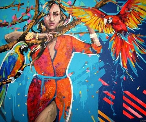 Obraz do salonu artysty Kamila Jarecka pod tytułem Plotkary 2