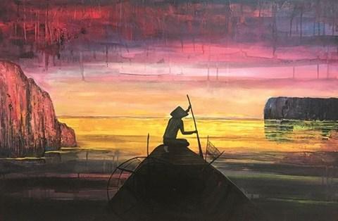 Obraz do salonu artysty Sabina Maria Grzyb pod tytułem Na Wschód
