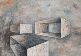 Living room painting by Iwona Gabryś titled Space No. 1