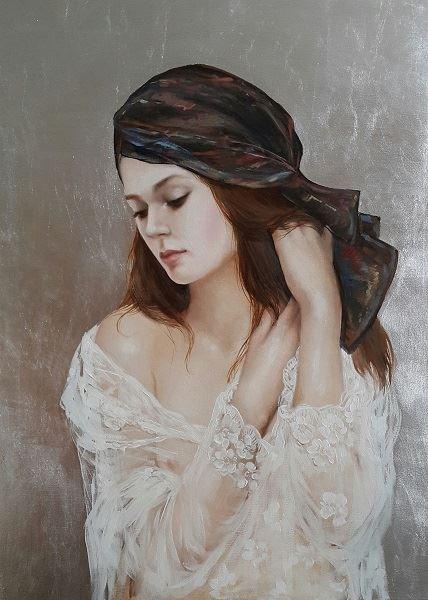 Obraz do salonu artysty Patrycja Kruszynska-Mikulska pod tytułem Dziewczyna w chuście