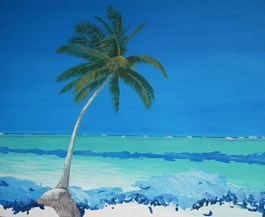 Living room painting by Grzegorz Drozd titled Rote Island - Indonesia