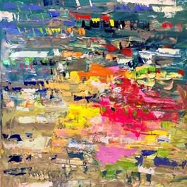Obraz do salonu artysty Gossia Zielaskowska pod tytułem Iwaly Map