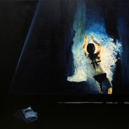 Obraz do salonu artysty Krzysztof Musiał pod tytułem Ręcznik