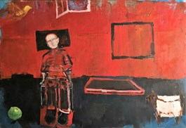Living room painting by Olek Myjak titled Composition 1