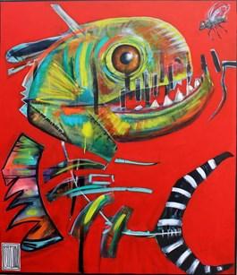 Obraz do salonu artysty Wojciech Brewka pod tytułem TALK TO ME