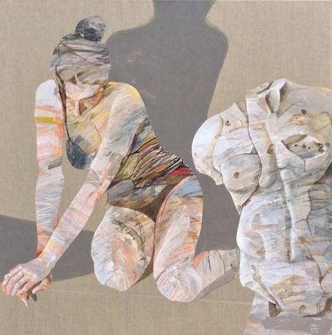Obraz do salonu artysty Adam Wątor pod tytułem DZIEWCZYNA I TORS 1