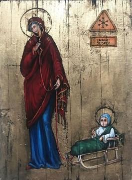 Obraz do salonu artysty Borys Fiodorowicz pod tytułem BOŻE NARODZENIE 0002 R.