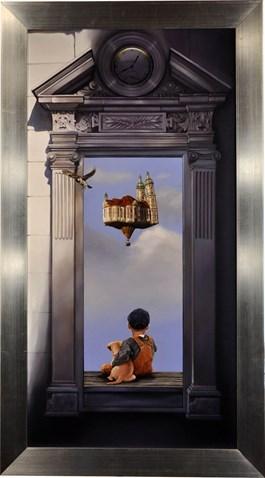 Obraz do salonu artysty Danuta Tatar-Grzesiak pod tytułem DWA ŚWIATY V