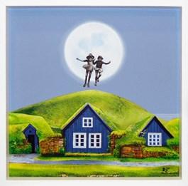 Obraz do salonu artysty Paulina Zalewska pod tytułem NA SREBRNYM GLOBIE II