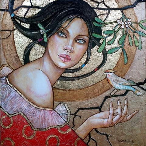 Obraz do salonu artysty Joanna Misztal pod tytułem JEMIOŁA