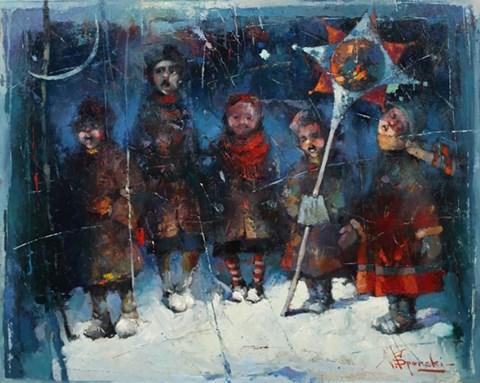 Obraz do salonu artysty Wacław Sporski pod tytułem KOLĘDA