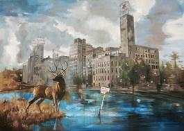 Obraz do salonu artysty Janusz Orzechowski pod tytułem DWIEŚCIE DWADZIEŚCIA LAT PÓŹNIEJ