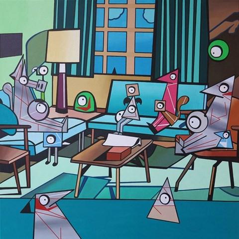 Obraz do salonu artysty Marcin Błach pod tytułem MONKEY DANCE