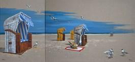 Obraz do salonu artysty Magdalena Kępka pod tytułem PIKNIK POD 53 (DYPTYK)