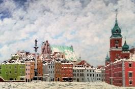 Obraz do salonu artysty Michał Mroczka pod tytułem ZIMOWA WARSZAWA