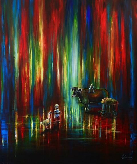 Obraz do salonu artysty Agata Buczek pod tytułem PRZEBŁYSK