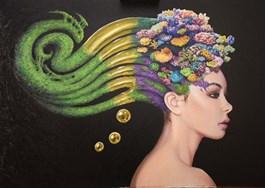 Obraz do salonu artysty Dominik Balcerzak pod tytułem KONSTRUKCJE ŚWIADOMOŚCI