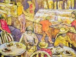 Obraz do salonu artysty Monika Ślósarczyk pod tytułem CUKIERNIA