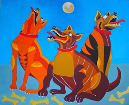 Obraz do salonu artysty Lili Fijałkowska pod tytułem MOONLIGHT