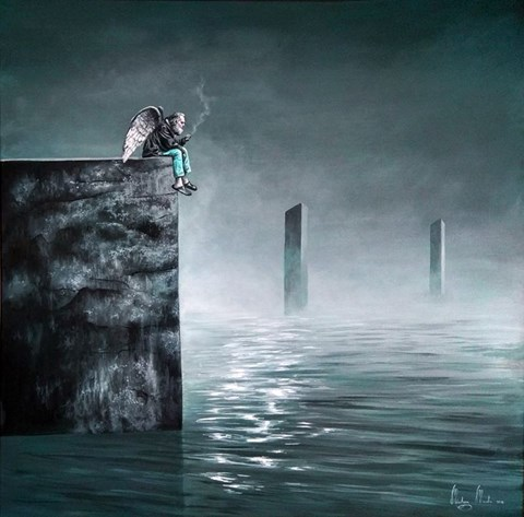 Obraz do salonu artysty Martyna Mączka pod tytułem ANIOŁY SĄ LUDŹMI
