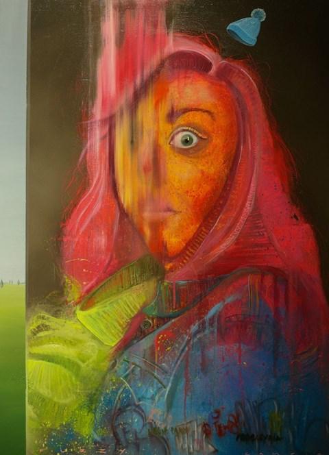Obraz do salonu artysty Campio pod tytułem FUZZY