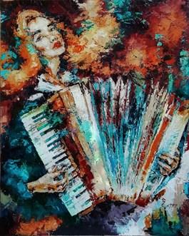 Obraz do salonu artysty Krystyna Róż-Pasek pod tytułem LIPSTICK