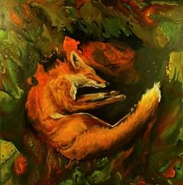 Obraz do salonu artysty Barbara Kozaczkiewicz pod tytułem LIS