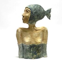 Rzeźba do salonu artysty Arek Szwed pod tytułem SYRENA