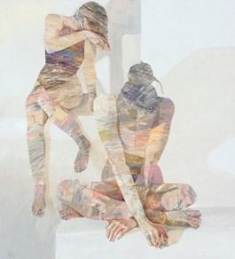 Obraz do salonu artysty Adam Wątor pod tytułem W BIAŁYM POKOJU