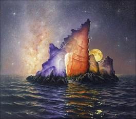 Obraz do salonu artysty Marek Rużyk pod tytułem TAJEMNICA KRYSZTAŁOWEJ GÓRY