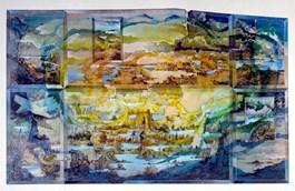 Grafika do salonu artysty Krzysztof Wieczorek pod tytułem PŁYNĄĆ TAM JAK NAJDŁUŻEJ