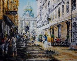Obraz do salonu artysty Arkadiusz Mężyński pod tytułem WIEN KOHLMARKT