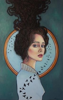 Obraz do salonu artysty Viola Bąbol pod tytułem MUZA IZOLDA SMUTNIEJSZA