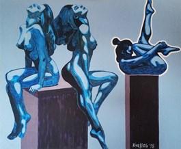 Obraz do salonu artysty Robert Krężlak pod tytułem NA PIEDESTALE