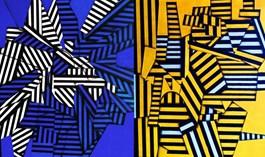 Obraz do salonu artysty Magdalena Karwowska pod tytułem BEZ TYTUŁU - DYPTYK