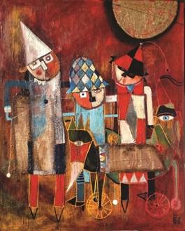 Obraz do salonu artysty Inez White pod tytułem MASKARADA